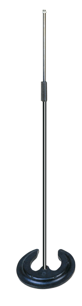 Black/Silver Stackable Microphone Stand with Cast Iron Base  P657D