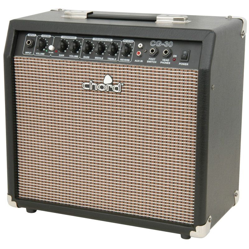 chord cg 30 electric guitar amplifier 30 watts cg30 practice guitar amp. Black Bedroom Furniture Sets. Home Design Ideas