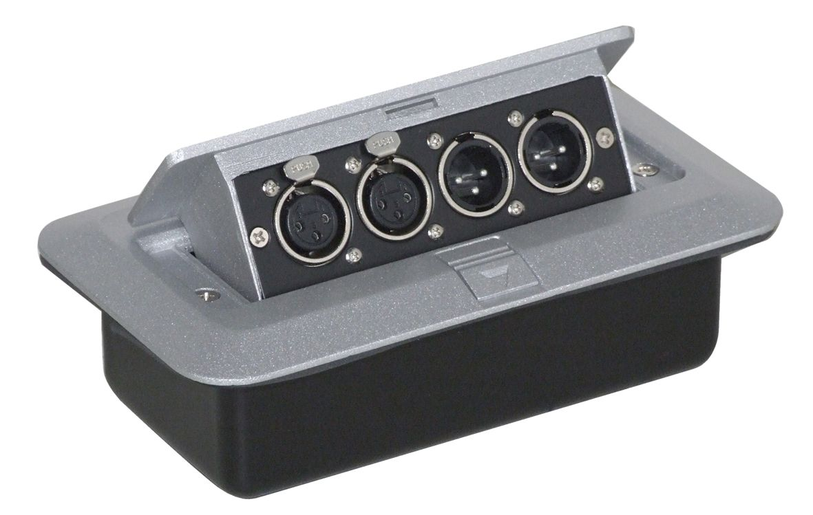 Pop Up Av Combination Plate With 3 Pin Chassis Plugs Amp Xlr