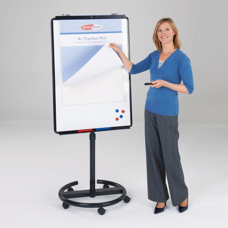 Ultimate Mobile Flipchart Easel Available In Different Colours