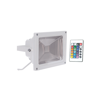 20 W RGB Colour Changing LED Flood Light with Wireless Controller - L330EW