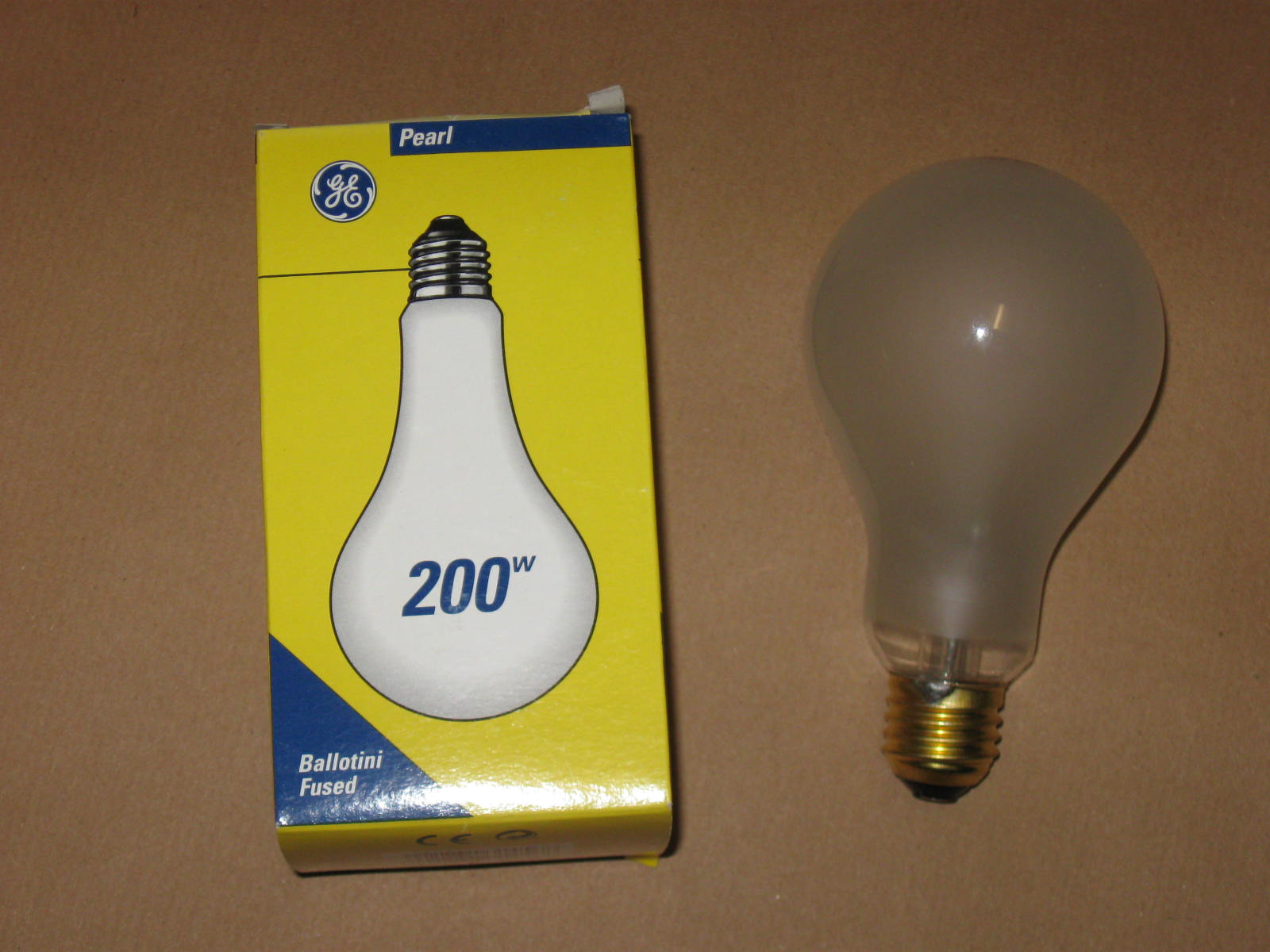 200w Ge Pearl Edison Screw Es Fitting Light Bulb Lamp