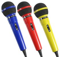 3 Coloured Karaoke Microphones MP34626