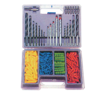 300 Piece Drill and Wall Plug Set in Plastic Case