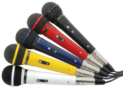 5 Coloured Karaoke Microphones 173.854UK