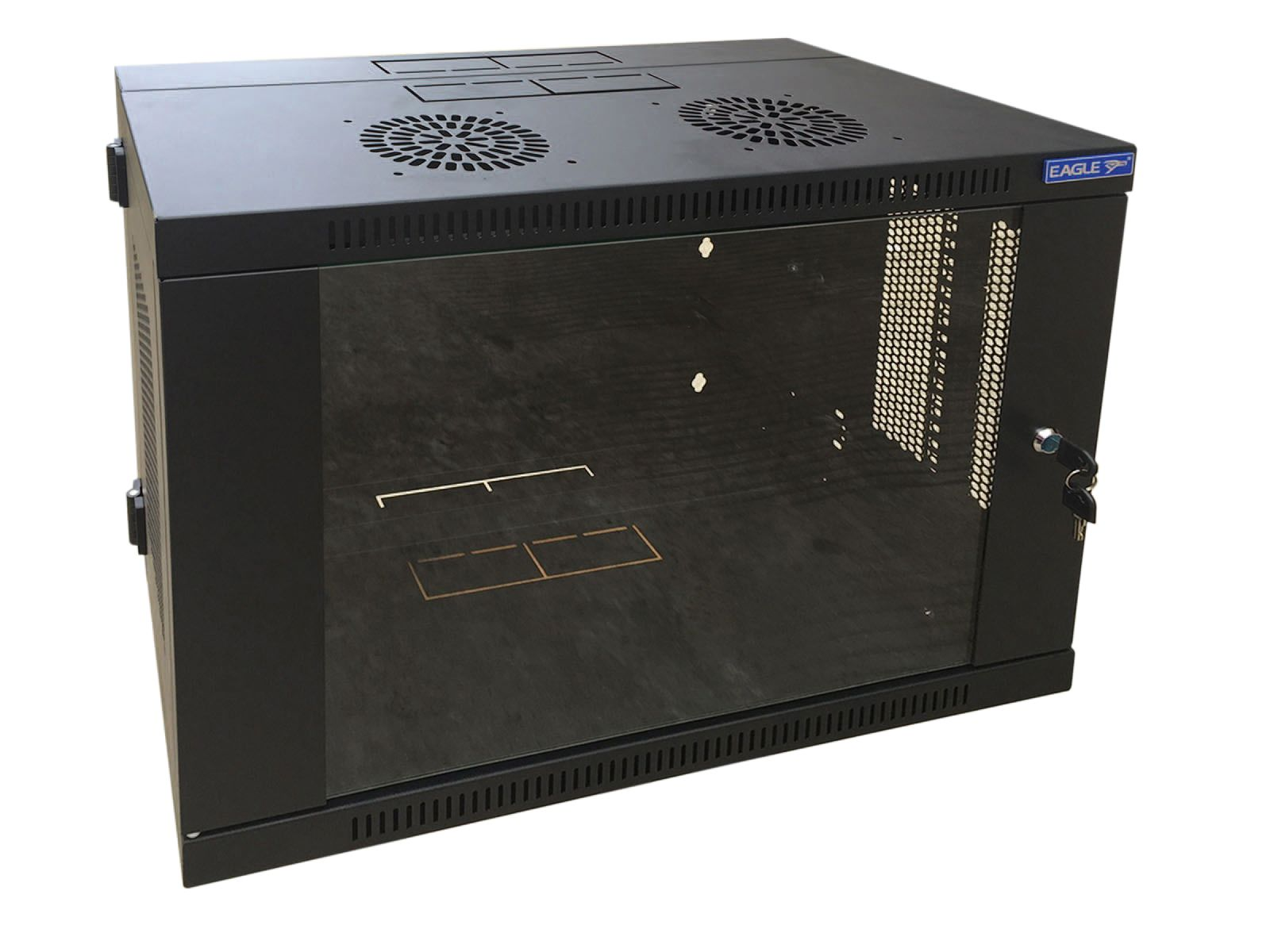 6u Eagle Wall Mounting 19 Rack Cabinet With Hinged Back