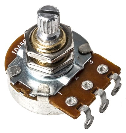 Bourns PDB241-GTR01-504A2 1 Gang Rotary Carbon Potentiometer with a 6 mm Dia. Shaft, 500k