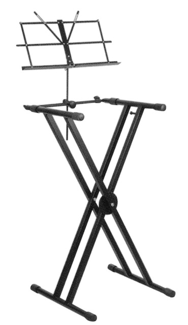 Adjustable X Frame Keyboard Stand with Sheet Holder G001XH