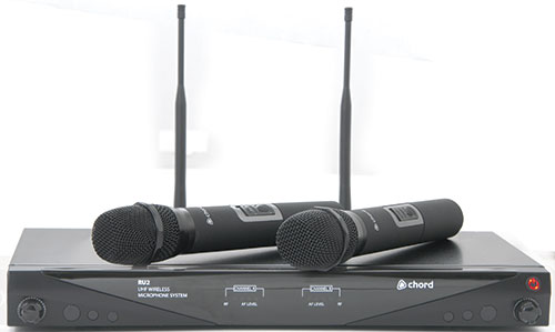 Chord NU2 Dual UHF Wireless Handheld Microphone System - 171.975UK
