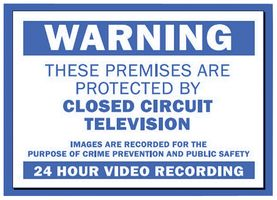 Defender CCTV Warning Security Sign