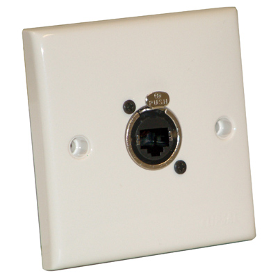 F267ZD White Single Flush Or Surface Mounting Signal Outlet