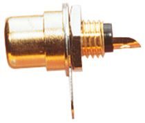 Gold Plated Phono Chassis Socket - Colour Coded Insulator & Solder Terminals - R027