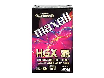 Maxell VHS-C Camcorder Cassette EC-45 HGX - Professional High Grade