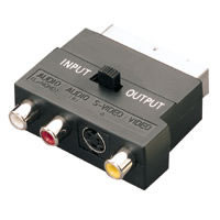 SCART PLUG ADAPTOR with S-Video socket