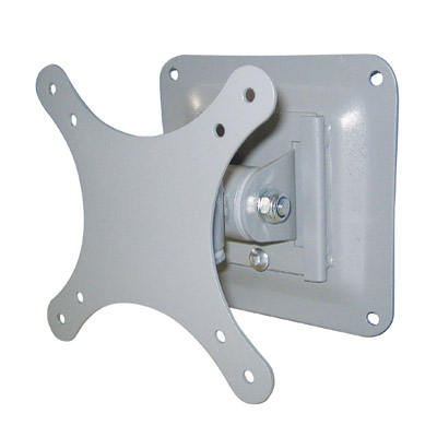 Silver Universal LCD Screen Wall Mount Bracket for Screens up to 24