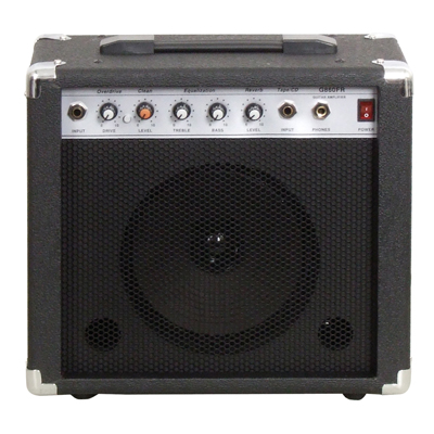 Soundlab Black 10W Guitar Amplifier With Reverb and Carry Handle G860FR