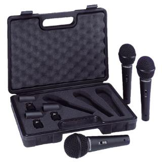THREE BEHRINGER MICROPHONES XM1800S & CASE IDEAL FOR DJ GROUP & KARAOKE ZB112 - FREE P&P