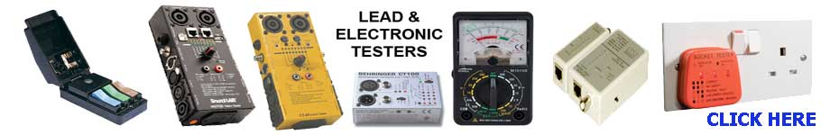 A large range of electrical & electronic testers for the professional or home users.